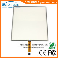 Win10 Compatible 4 3 15 Inch 4 Wire Resistive USB Touch Screen Panel For Photobooth Photo