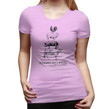"""Friends Not Food"" women's t-shirt / girlie"