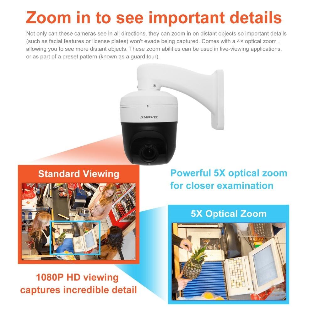 117e49f77af Anpviz Mini PTZ IP Camera Onvif Indoor 2MP Motorized 2.7-13.5mm 5X Zoom IR.  sku  32887058089