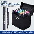 Juego de marcadores de bocetos de doble cabeza de artista STA 36/48/60/72 colores de Arte de Manga de Alcohol aceitoso marcadores para suministros de diseño