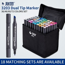 New 160 Color Marker Set 36/48/60/72 Design Mark Pen Animation Design Permanent Paint Sketch Copic Markers for Drawing