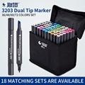 STA artista de doble cabeza dibujo marcador Set 36/48/60/72 colores grasa a base de Alcohol Manga arte marcadores para diseño suministros