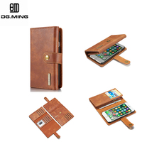 I6 6plus DG MING Luxury Brand Retro Leather Cover Magnetic Flip Wallet Card Phone Bags Cases