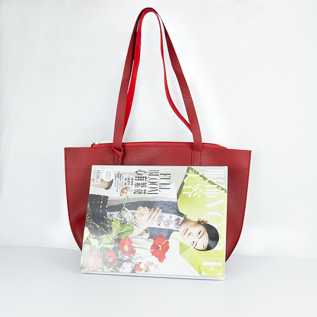 Solid Women's Tote Bag PU Leather Women Handbag Large Capacity Tassel Handbags Fashion Shoulder Bag 4
