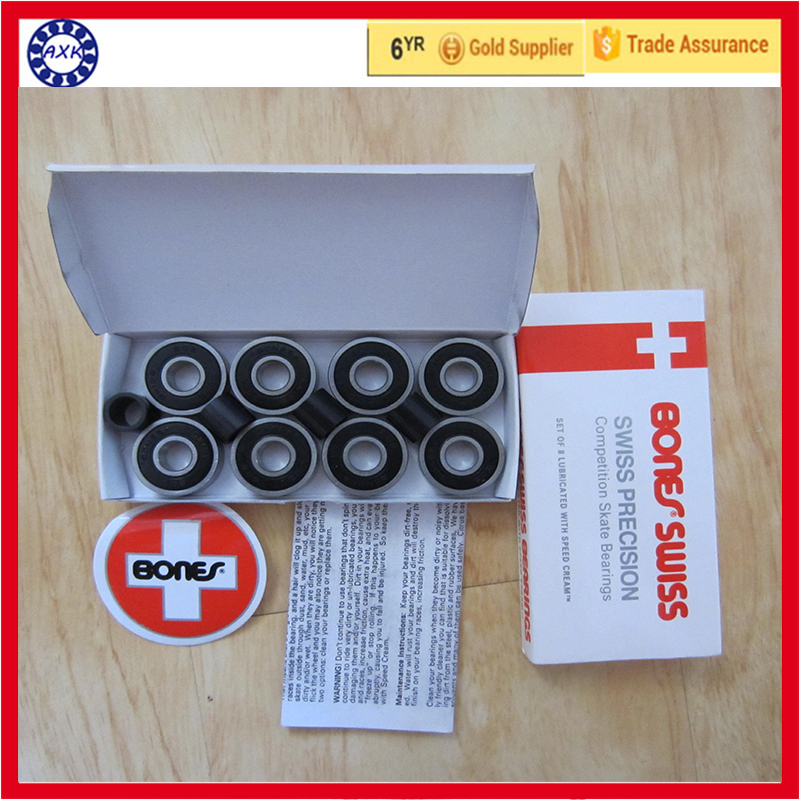 Free shipping 16pcs famous brand AXK 608rs hoverboard skate shoes bearing 608 2rs 8* 22*7mm все цены