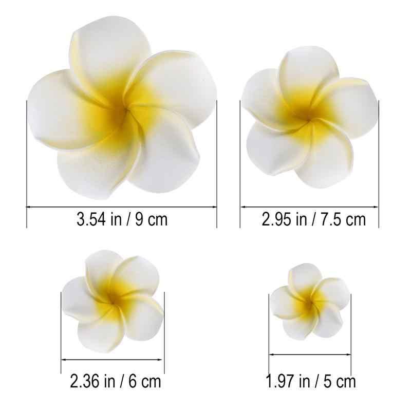 4 шт. Гавайские цветы заколки для волос Свадебная заколка тропический пляж свадебный цветок плюмерии женские вечерние свадебные искусственные орхидеи