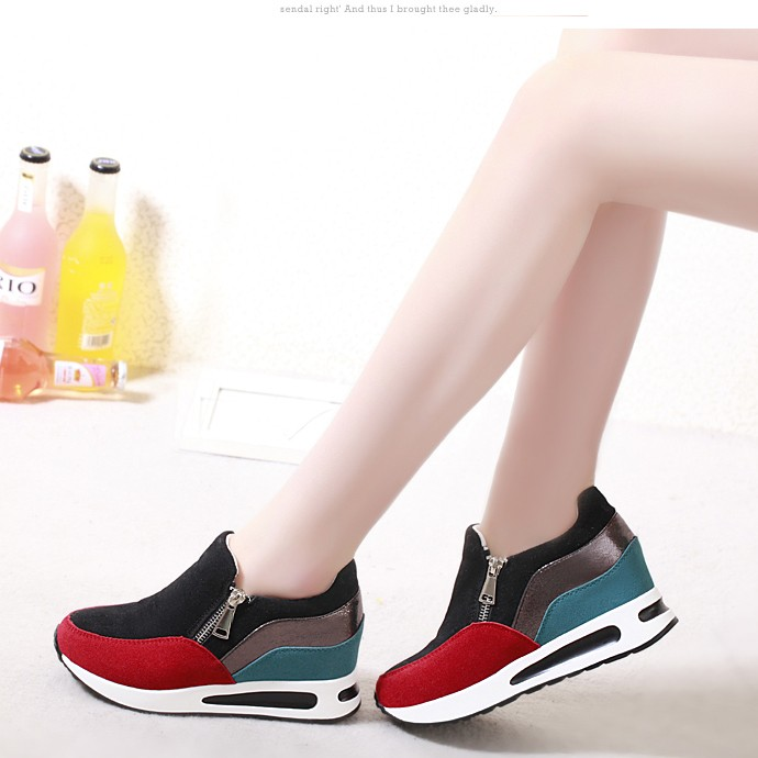 Hot 2016 Spring New Arrival Height Increasing Shoes Fashion font b Women b font Wedges Casual