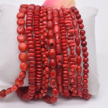 Natural Stone Bead Irregular Round Shape Red Coral Beads jewelry Spacer Strand 15For DIY Bracelet Necklace Jewelry Making