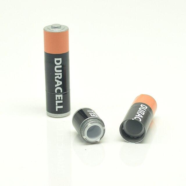 1 PC piccola Batteria Secret Stash Deviazione caja Sicuro Scatola Della Pillola