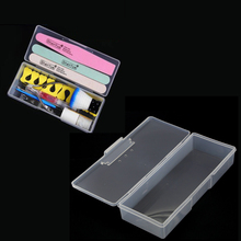 Container Tweezers Nail-Art-Tool Clear Clippers Storage-Box Polishing Nails Empty Plastic