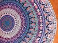 Venda quente Do Projeto Do Vintage Totem Impresso Chiffon Cachecol Oversized Rodada Mulheres Envoltório Protetor Solar Praia Pareo Encobrir Cape Fêmea JL23