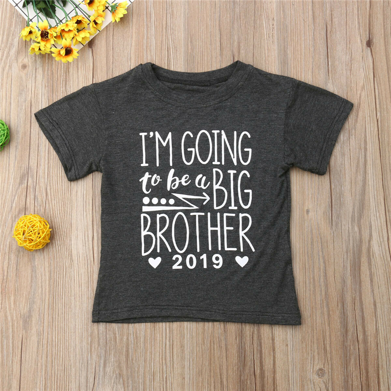 Boy T-Shirt Tops Short-Sleeve Print Newborn Infant Baby-Boy Casual Fashion Letter Handsome