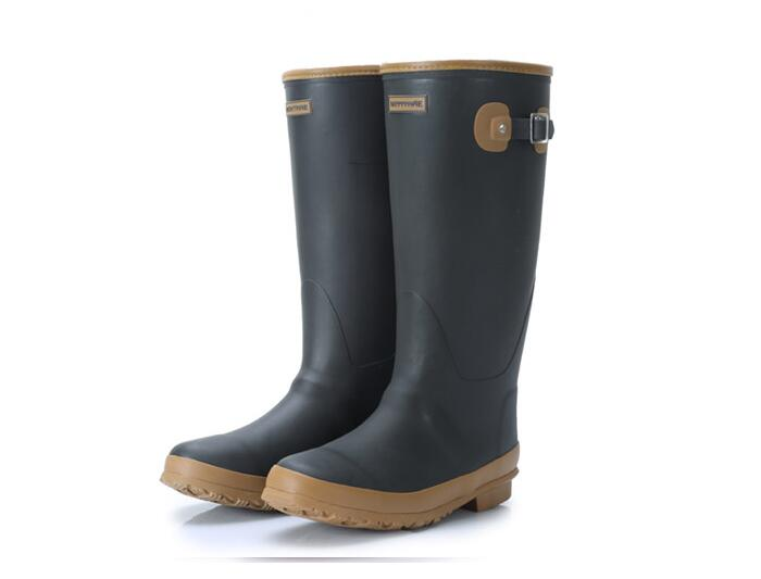Men s rubber rain boots fishing hunting boots wellington rubber boots waterproof high quality wear shoes