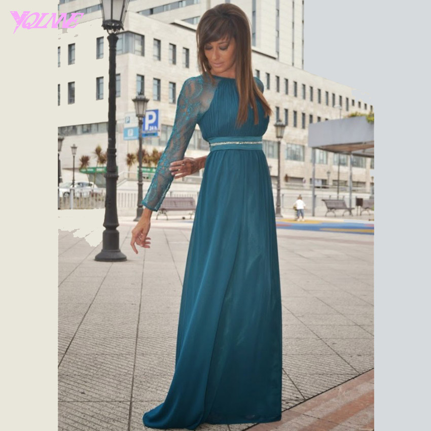 Full Sleeve Prom Dresses Promotion-Shop for Promotional Full ...