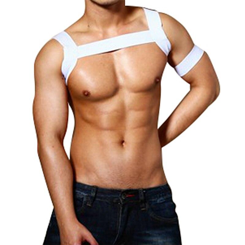 Лидер продаж, экзотические эластичные бандажные топы, рубашка с бретельками, бондажные ремни для сексуального нижнего белья, мужской гей-фу...