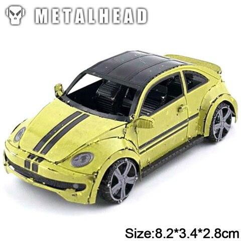 mini 3d metal quebra cabecas modelo para criancas adultas brinquedos educativos interativos jigsaw colored beetle