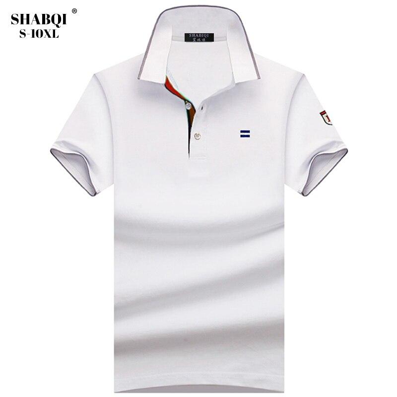 SHABIQI Brand Men shirt Men Polo Shirt Men Short Sleeve Breathable & cotton men Polo Shirt Plus Size 6XL 7XL 8XL 9XL 10XL 1