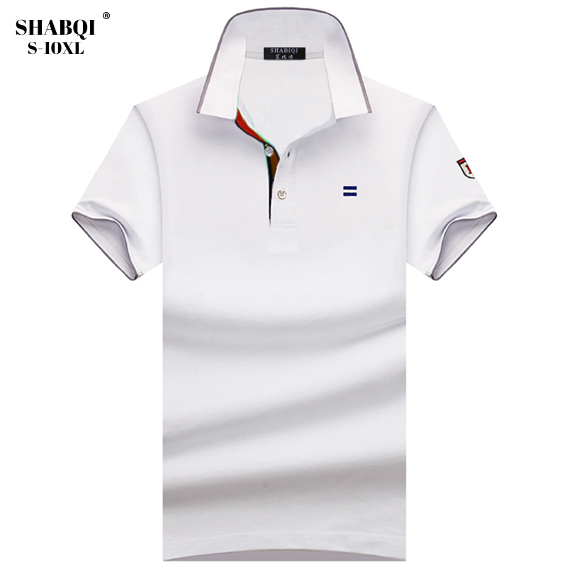SHABIQI Brand Men shirt Men   Polo   Shirt Men Short Sleeve Breathable & cotton men   Polo   Shirt Plus Size 6XL 7XL 8XL 9XL 10XL
