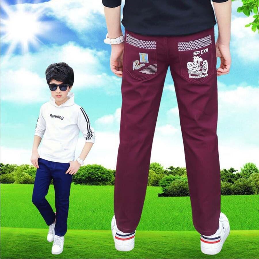 Meninos primavera calças crianças calças crianças outono calças de algodão casuais meninos exteriores longo estilo 3-15T criança roupas calças adolescentes