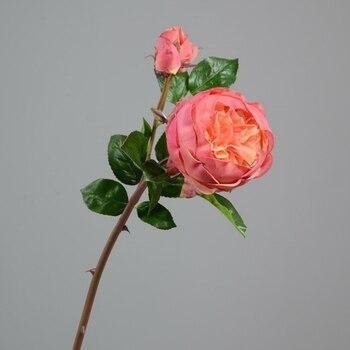 6pcs 57cm British Rose High Grade Simulation Silk Flower Wholesale Home Furnishing Festival Ornament Romantic Wedding Decoration