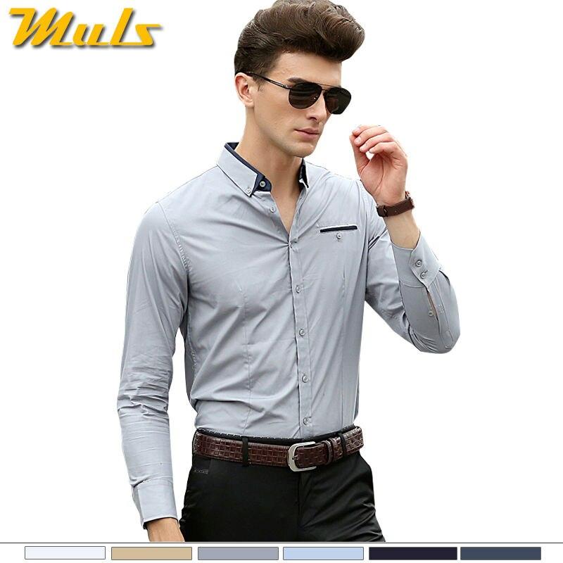 Men's shirt casual cotton long sleeved man shirt dresses Leisure ...