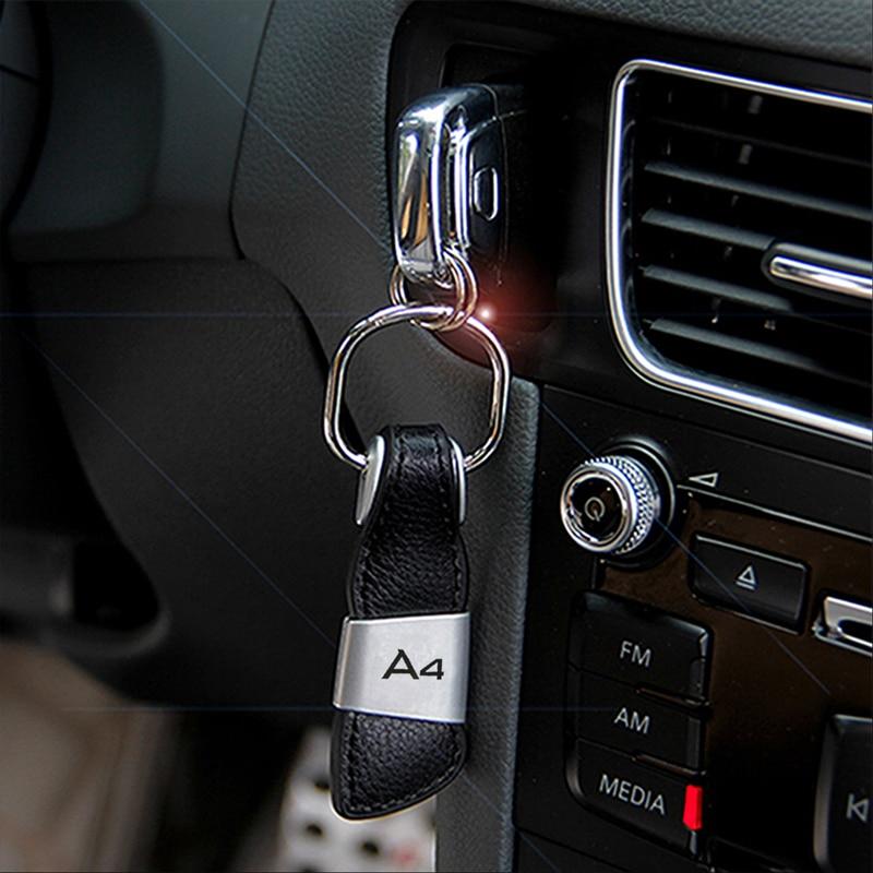 Car Styling Keychain Key Ring Logo For Audi A3 A4 B6 B8 A6 C6 80 B5 B7 A5 A7 Q5 Q7 TT 8P 100 8L C7 8V A1 S3 Q3 A8 B9 S line