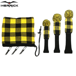 Image 4 - Golf Clubs Fairway Wood and irons headcover knitting wool Combination suit Four color to choose