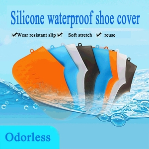 Image 1 - Reusable Silicone Shoe Covers Waterproof Non Slip Rain Socks Shoe Protectors Elastic For Adults/Children Indoor Protection