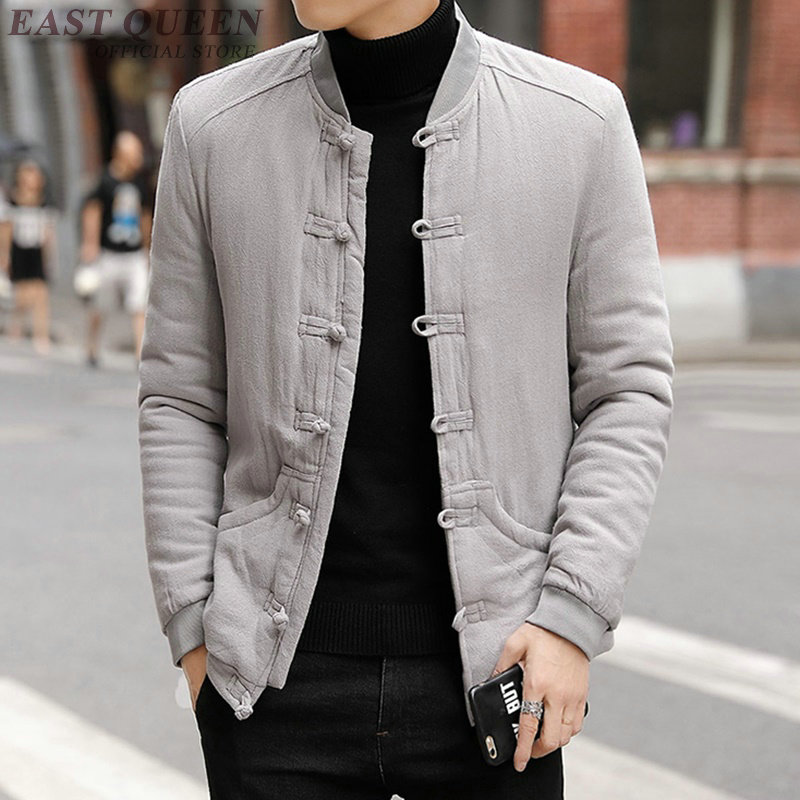 Chinese traditional man tops cotton linen casual oriental coats men thickness Chinese knitted hot sale men clothing  DD477  F