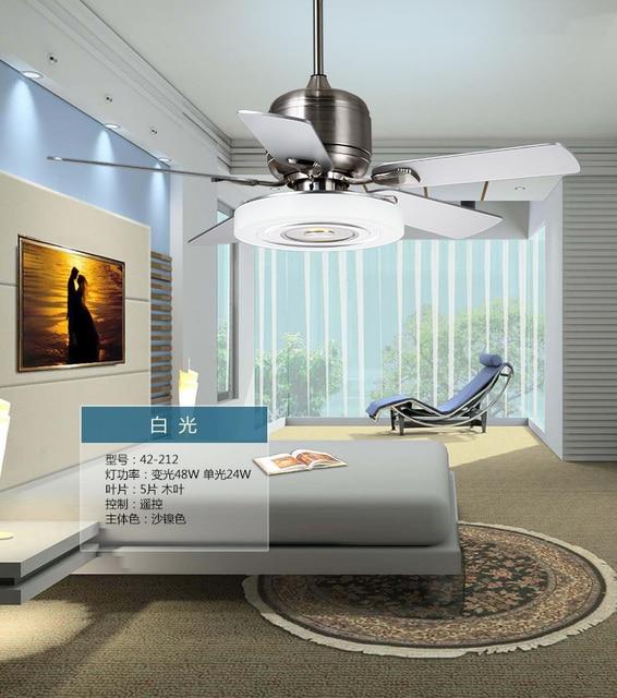 Moderne woonkamer slaapkamer fan plafondlamp afstandsbediening mute ...