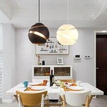 Modern Glass Round Ball Pendant Lights E27 LED Suspension Luminaire Designer Minimalist Loft Lights Casual Living Room Lamps