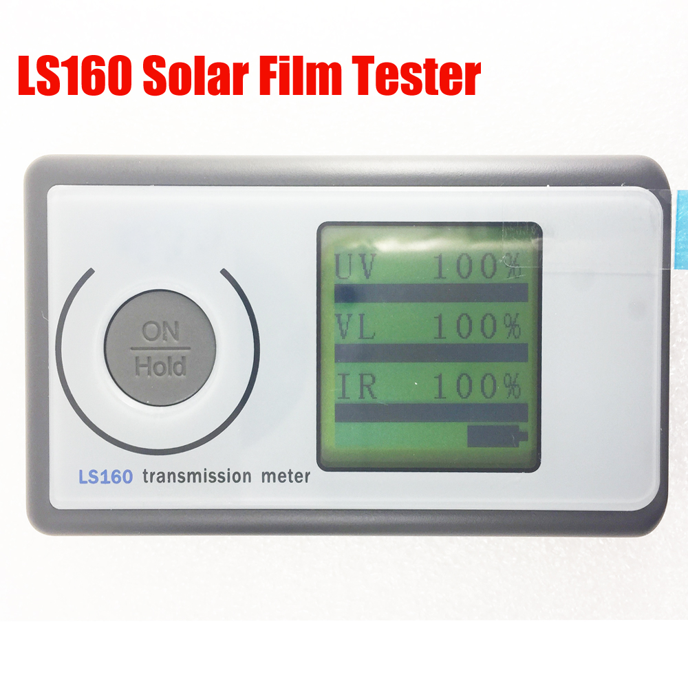 LS160 Solar Film Tester, Portable Solar Film Transmission Meter ,measure UV Visible and Infrared transmission values