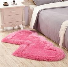 3-D cute double-heart carpet for family living room, tea table, bedroom carpet, bedside free shipping