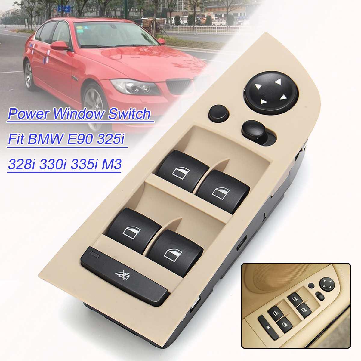 Lecteur Automatique Voiture Avant Gauche Fenêtre commutateur De Commutation Unité Miroir Interrupteur Panneau De Contrôle unité Avec cadre POUR BMW 3 SÉRIE E90 m3