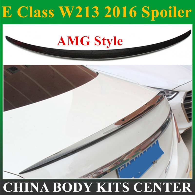 Carbon Fiber Rear <font><b>Spoiler</b></font> Tail Wing for Mercedes E Class W213 2016 - Present 4-Door Sedan image