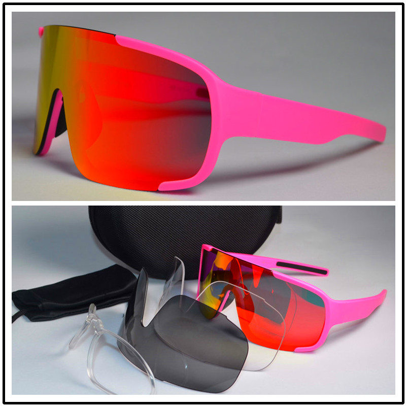 Cycling Eyewear Bike Outdoor-Goggles Ciclismo-Bicycle Polarized 3-Lens Sport Woman