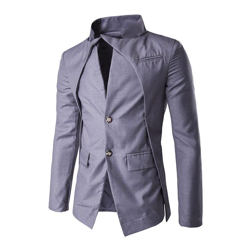 New font b men s b font irregular design single breasted Tuxedo Suit party dress color