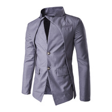 New males's irregular design single breasted Tuxedo Suit celebration gown shade
