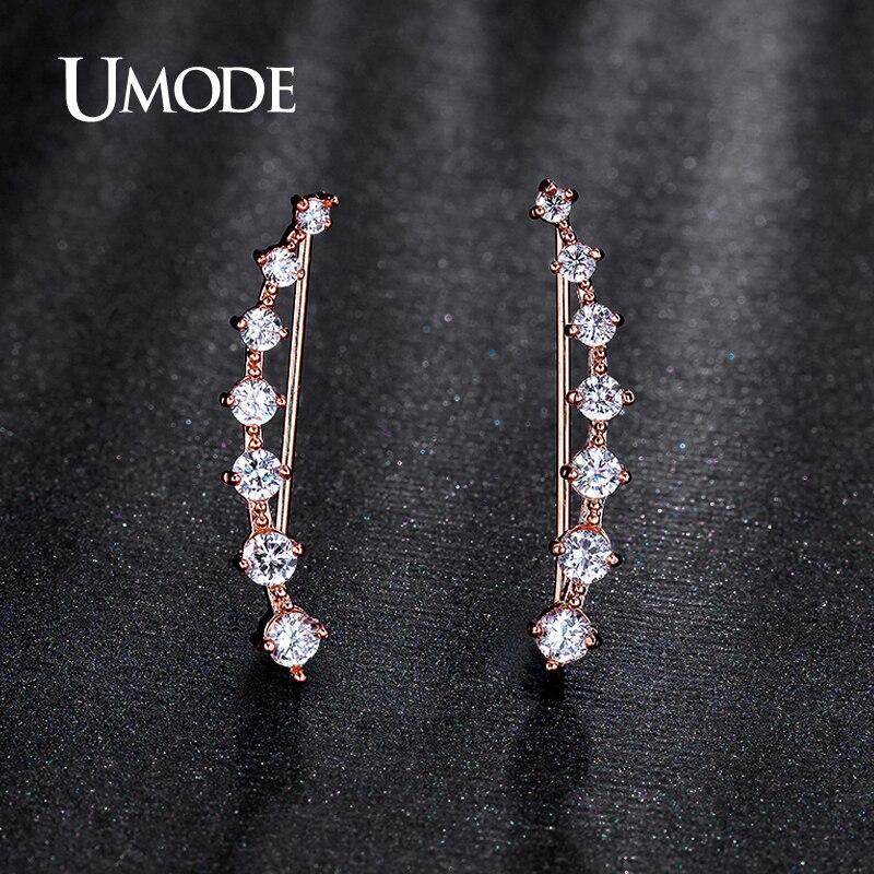 UMODE Modni nakit Četiri zupca Postavljanje 7pcs Uho Hook Crystal - Modni nakit - Foto 2