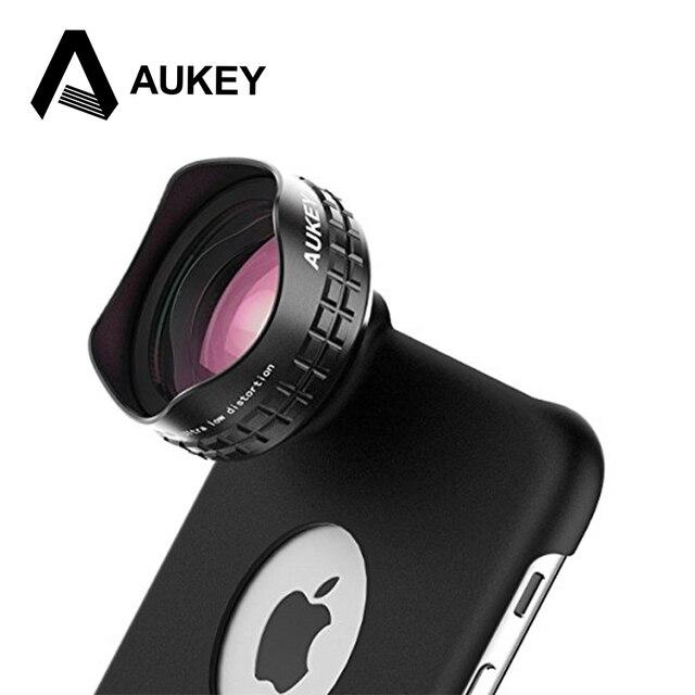 AUKEY Оптический Pro Объектив 18 ММ HD Широкий Угол Камеры Мобильного Телефона Объектив комплект 2X Более Пейзаж для iPhone 6 6 s Samsung HTC & больше Телефонов