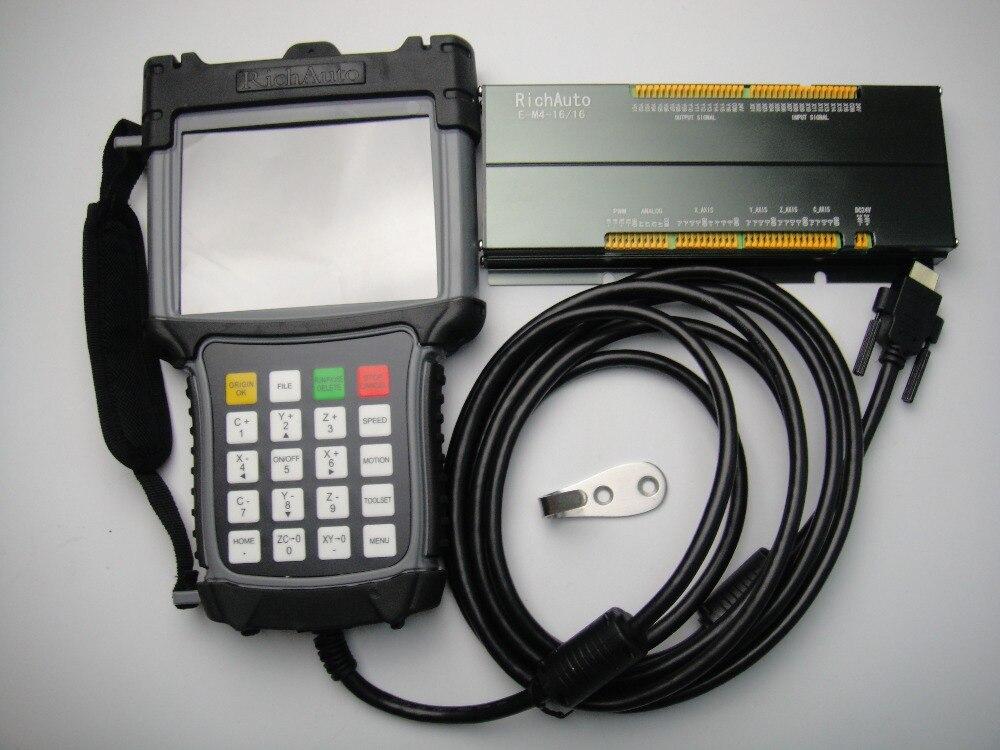Système de contrôle de mouvement à 3 axes CNC écran couleur RICHAUTO DSP A55E pour machine à CNC multibroches
