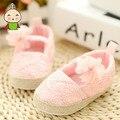 Outono Rendas Sapatos de Bebê 0-1 anos de idade pano de malha Berço Sapatos Macios Sole Anti-slip cutet Criança Sapatos de caminhada