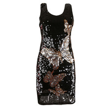 BLINGSTORY fashion women s vestidos women summer butterfly sequin dress  evening party dropshipping KR4010-1 71b85d3e072e