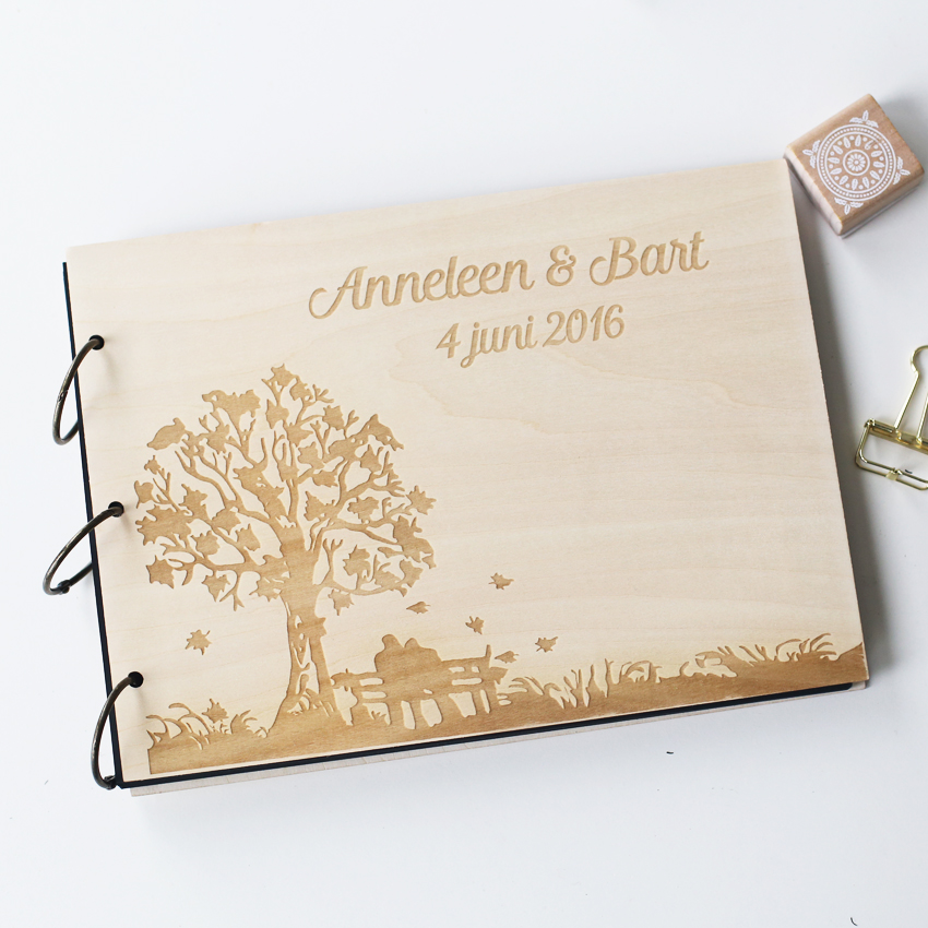 Buy personalized engraved tree wedding for Photo wedding guest book