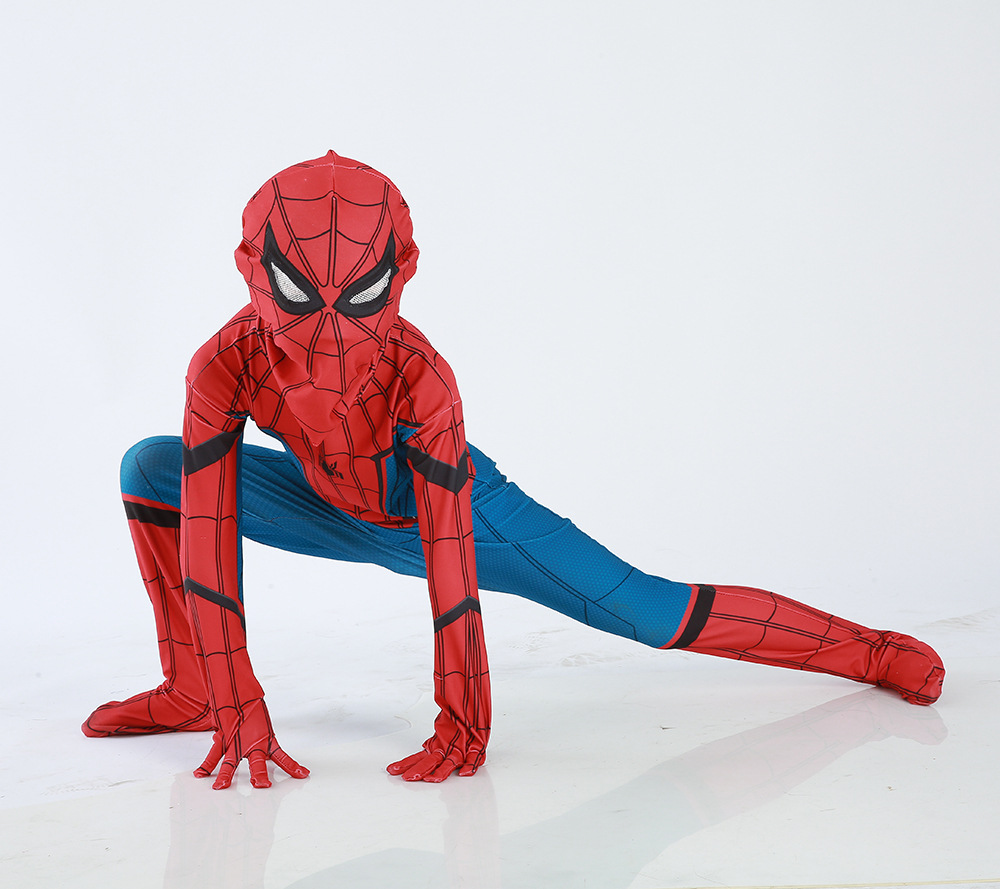 Spiderman Spider-Man Homecoming Cosplay Costume for kids 3D Printed Spandex Suit Spidey Bodysuit children boy Halloween 2017 men