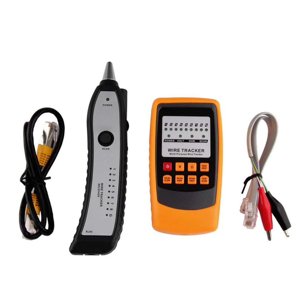 2017 Newest Cable Tester Tracker Phone Line Network Finder RJ11 RJ45 Wire Tracer Wholesale New Arrival