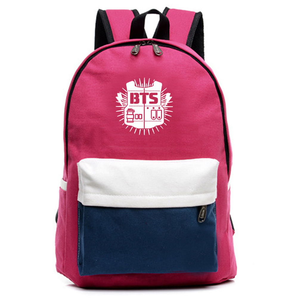 2017 KPOP Group BTS EXO fans Backpacks Canvas Women Shoulder Bag Student Boys mochila Backpack Girls School Bags For Teenagers msmo 2017 new kpop exo canvas backpack sacks women men student school bags for girl boy casual travel exo bags