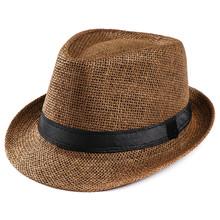 Hats For Women Unisex Trilby Gangster Cap Beach Sun Straw Hat Band Sunhat Adjustable Hat Winter