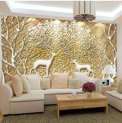Customized Large Abstract Photo Mural 3d Wallpaper Living