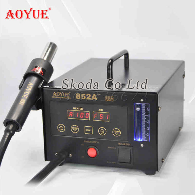 ESD Safe 220V AOYUE852 aoyue 852A+ digital display SMD Rework Station Soldering Station Hot Air Gun BGA desoldering tool